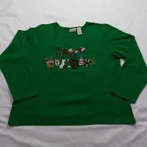 Kim Rogers Happy Holidays Long Sleeve Sz PXL